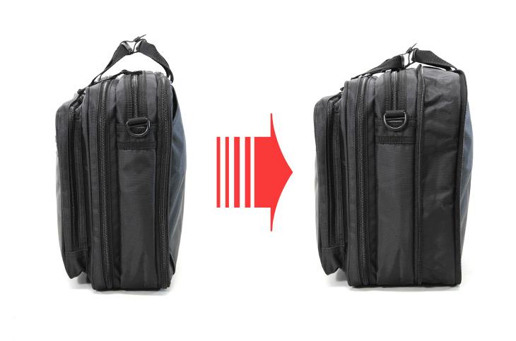 ユナイテッドクラッシー 2220 マチ拡張でバッグの奥行が6.5cm広げられる